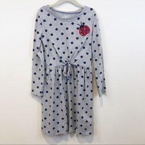Carter's Girls Long Sleeve Ladybug Dress, Size 8